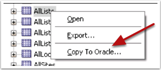 Copy to Oracle